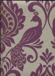 Boutique Vintage Borromeo Damson Wallpaper 952601 By Arthouse For Options